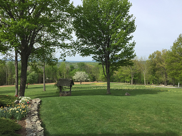 Organic landscaping for this pastoral Newbury NH property